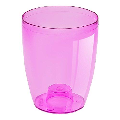 Porta-vaso per orchidee alto 18,5 cm, Coubi, in materiale trasparente color rosa 2