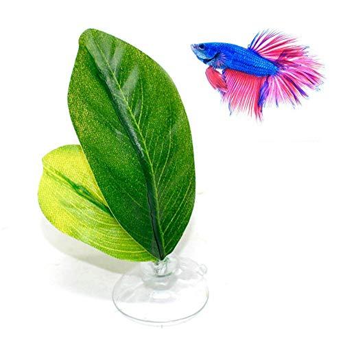 raspbery Betta Plant Leaf Amaca Riposo per Pesci Tropicali Letto Serbatoio di Pesci Acquario Spawning Foglia Pieghevole a Doppio Strato Typical
