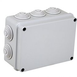 Electraline 60555 Cassetta di Derivazione da Parete, Misura 150×110 mm, IP55, Grigio, 150x110x70