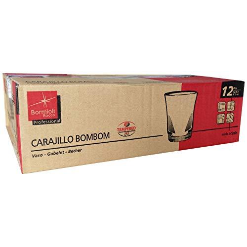 Bormioli Rocco – Scatola da 12 Bicchieri Trasparenti, per cioccolatini o Tagliati, caffè Espresso, 12,9 cl, 4,5 oz 4