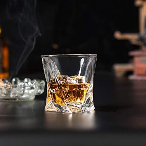 KANARS 6 Pezzi Bicchieri Whisky, Bicchiere Cocktail e Whiskey Cristallo, Bellissimo Regalo, 300ml 9