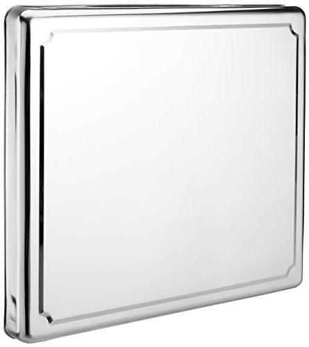 Jocca 6414- Copri piano cottura in acciaio INOX, 60.5 x 52.5 x 5.5 cm, Argento