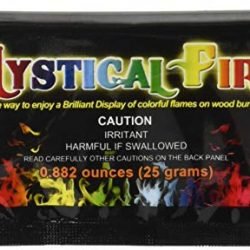 MYSTICAL FIRE 99828Flame Colorant 25-Pouch Box, 10.8x 5.7x 0.6cm