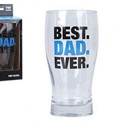 """Bicchiere da birra con scritta in inglese """"Best Dad Ever"""", idea regalo per la festa del papà o per Natale."""