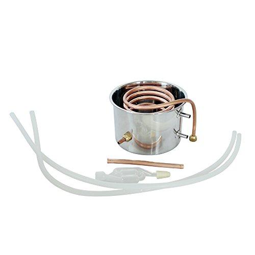 DCHOUSE – Kit per la produzione di vino, 20 l, 2 vasi, in acciaio INOX, distillatore per alcol Moonshine, caldaia con termometro 4