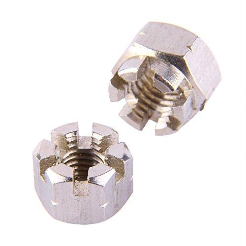 1 dado a corona da M5 fino a M30, DIN 935, in acciaio inox A2