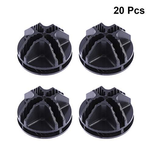 Vosarea, 20 connettori in plastica, per telai tubolari metallici di armadietti cubici (nero) 3