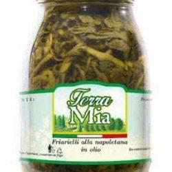 Friarielli sott'olio (infiorescenza di cima di rapa) vasetto da 580 ml SENZA CONSERVANTI