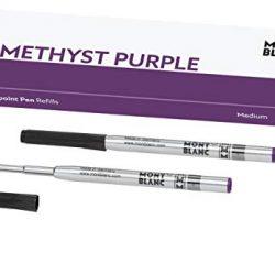 Montblanc 124633 – Refill (M) per penne a sfera, colore Amethyst Purple (viola ametista) – Ricariche di alta qualità e colore intenso, punta: media, 1 x 2 Refill