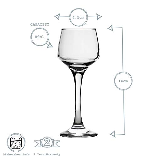 Argon Tableware Bicchiere da Sherry/liquore – in Vetro – 80 ml – 6 Pezzi 4