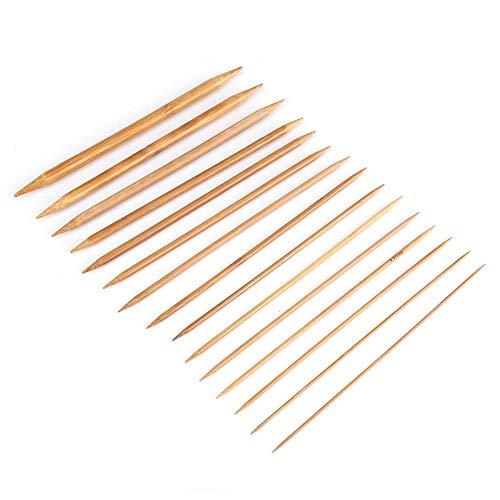 Nikou Aghi per Maglieria in bambù – 15 Misure Aghi per Maglieria in bambù Takumi con Doppia Punta Liscia da 2 mm a 10 mm