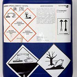 Cloro Liquido, ipoclorito di Sodio 14/15% per disinfezione Acqua Potabile e Trattamento Acqua Piscine, tanica da kg 25