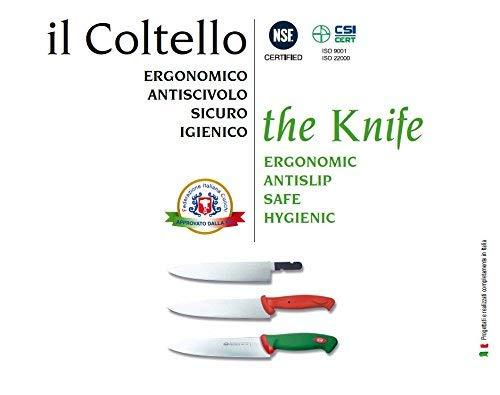 Sanelli Premana Professional Coltello Spelucchino, Acciaio Inossidabile, Verde/Rosso, 7 cm 4