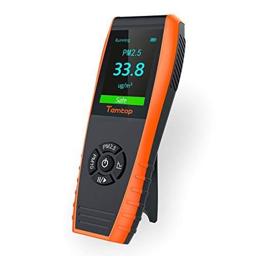 Temtop P600 Misuratore di precisione professionale per misuratore di particelle di laser di qualità dell'aria per PM2.5 / PM10 Display LCD a colori TFT?Garanzia di tre anni?