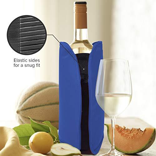 Set di 2 Refrigeratori per vino – Nero e blu – Perfetto per bottiglie di vino e di Champagne – Ideale per cene ed eventi 4