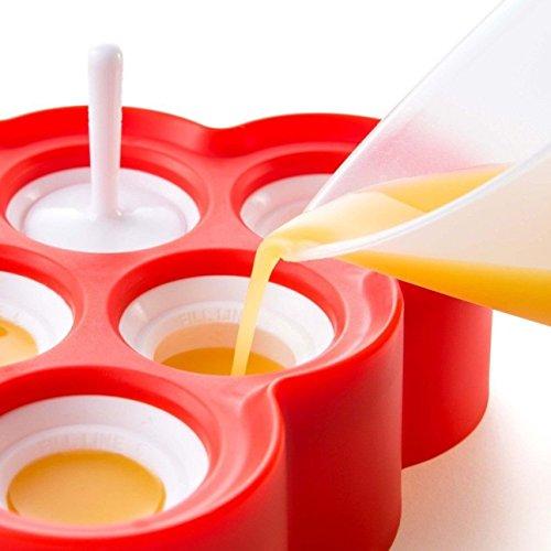 Stampi Ghiaccioli / Stampi per Gelati Realizzati in Plastica di Alta Qualità Priva di BPA , Ideale per la Preparazione di Ghiaccioli, Gelati, Sorbetti ecc, i Vostri Bambini li Adoreranno 6
