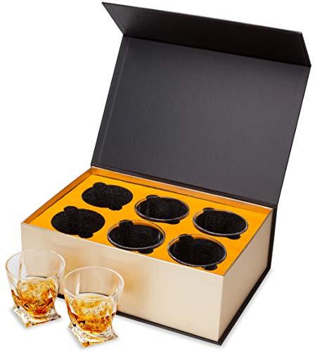 KANARS 6 Pezzi Bicchieri Whisky, Bicchiere Cocktail e Whiskey Cristallo, Bellissimo Regalo, 300ml 3