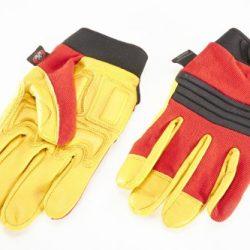 – Guanti in vera pelle di alta qualità, Anti-urto, Anti-vibrazione Gloves./Gel, guanti imbottiti. 2