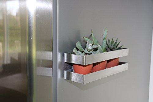 COMPACTOR Porta spezie magnetico, Fino a 1,5 kg, Acciaio inox, Argento, 20.5 x 6 x H.6 cm, RAN8201 6