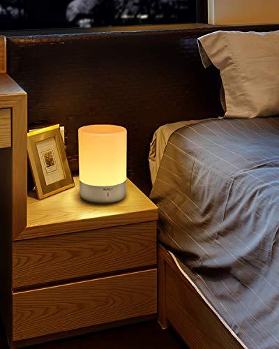 AUKEY Lampada da Comodino RGB Ricaricabile con 3 Luminosità 7