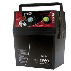 Creb PF300 – Elettrificatore Portatile 240mJ, in plastica, 22 x 30 cm, Colore Nero/Rosso