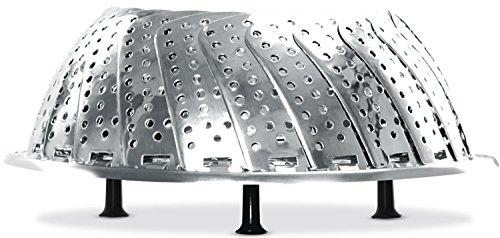 Barazzoni Cestelli per Cottura a Vapore Cestello a Vapore con Manico telescopico Nichel Free cm23, Acciaio Inossidabile, Acciaio,
