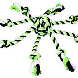 Trixie Denta – Corda divertimento con tessuto in palla per cane, colori assortiti