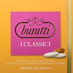 Buratti Confetti con Mandorle Tostate Ricoperte di Cioccolato, Bianco ai Molteplici Gusti, Tenerezze Sfumè Rosa – 1000 g