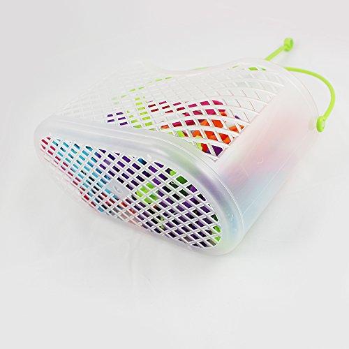 COM-FOUR® 30x Mollette in pratico cestino con manico (Set 0031 pezzi 1 – cesto + staffe) 5