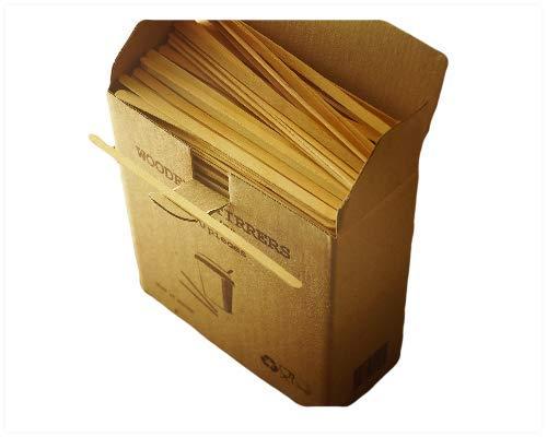 GreenFeel Palette di legno per caffè e tè, 178mm, per bicchieri di carta, per bevande calde e da asporto, 1000 pezzi