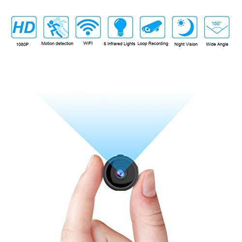 Mini Telecamera Spia, 4K Full HD Microcamera spia, microtelecamera wifi IP Wireless Rilevamento di Movimento telecamera di sorveglianza Videocamera di Sicurezza