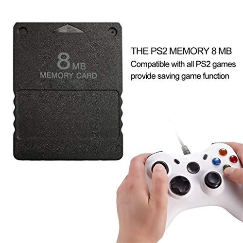 gfjfghfjfh Compact Design Nero 8 MB di schede di Memoria Memory Card Adatta per Playstation 2 PS2 Black 8MB Memory Card 3