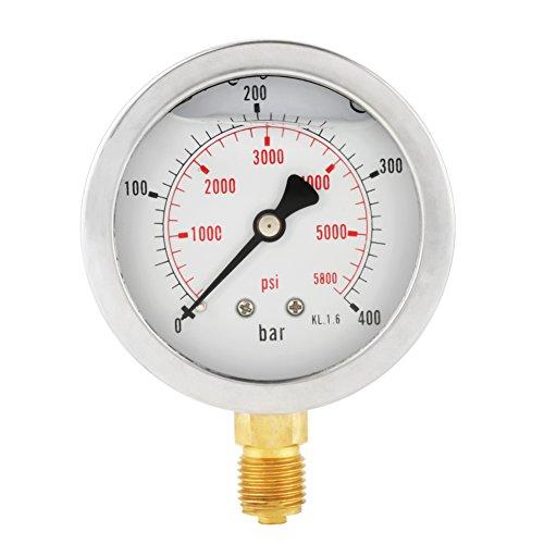 0-400BAR 0-5800PSI G1 / 4 63 millimetri quadrante idraulico manometro alta precisione