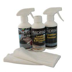 Inspired – Set di prodotti per la cura e la pulizia di articoli in pelle