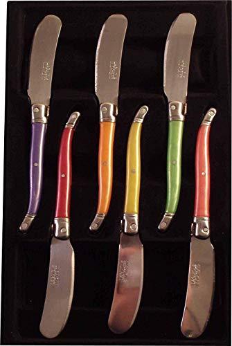 Laguiole 7506P-6 Scatola di 6 coltelli da Burro Pastello