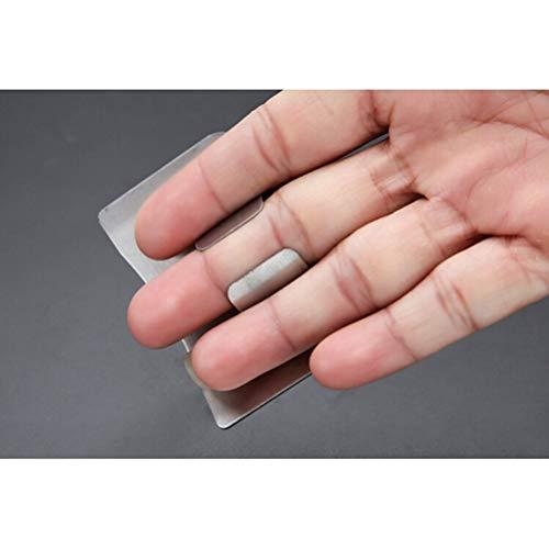 BESTONZON Salva Dita salvadita per tagliare in Acciaio Inox proteggi dita per Affettare tritare 3