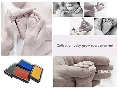 Tamponi di inchiostro per impronte e impronte neonato, Inchiostro per impronte di mani e piedi per bambini, Kit impronte bambini Inchiostro, Tampone di inchiostro di mani 5