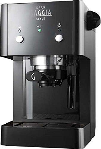 Gaggia RI8423/11 Grangaggia Style, Macchina per caffe, Capacità serbatoio acqua 1 L, 15 bar, Nero