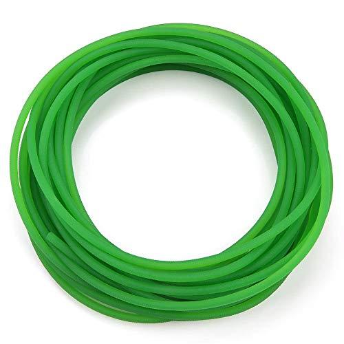 Cinghia di trasmissione, cinghie tonde in uretano ad alte prestazioni Superficie ruvida verde Cinghia rotonda in poliuretano per la migliore trasmissione(4mm*10m)