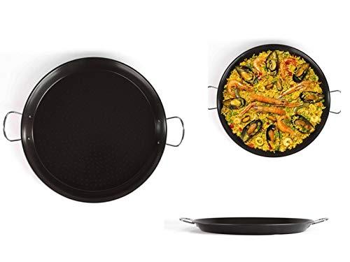 PaellaWorld   Padella per paella a induzione, 46 cm, in acciaio al carbonio, con rivestimento antiaderente
