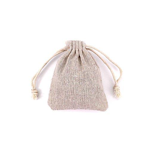 RUBY-50pcs sacchetti di gioielli sacchetti di tela con coulisse riutilizzabile sacchetto del regalo iuta per la festa nuziale