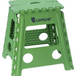 Lantelme, sgabello pieghevole verdeSgabello in plastica.Resistente alle intemperie, per casa, giardino e campeggio.