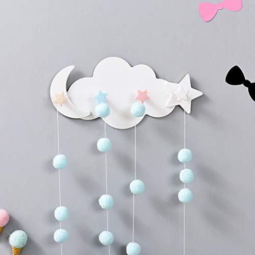 BESTONZON Ganci Appendiabiti Bambini da Parete Muro a Forma di Nuvola Decorazioni Stanza Ragazza 3