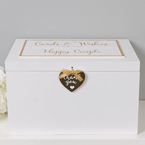 """Grande in legno scatola di matrimonio–Crema""""Cards & Wishes for the Happy Couple"""" wedding card box"""