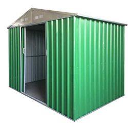 Eurobrico Casetta Garage da Giardino Porta Utensili Box in LAMIERA ZINCATA 0,27 mm Verniciata di Verde con Porte scorrevoli