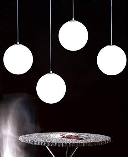 Lampadario con sfera di vetro, Lampada a sospensione, Lampada interna singola per Camera da letto, Soggiorno, Corridoio, Ristorante, Bar 1pcs (25CM) 5