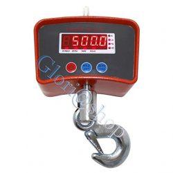 BILANCIA ELETTRONICA INDUSTRIALE 500 KG DISPLAY LED GANCIO GRU IN ACCIAIO INOX