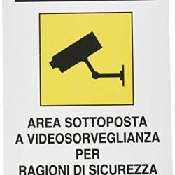 PUBBLICENTRO Cartelli segnaletici in alluminio Pubblicentro – area videosorvegliata -04104310ALB0300X0200
