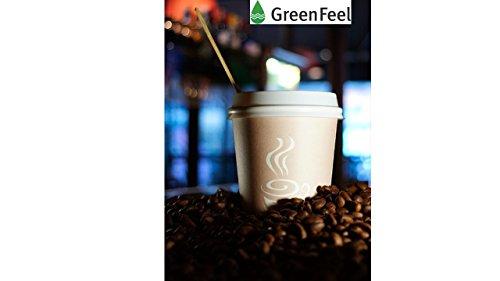 GreenFeel Palette di legno per caffè e tè, 178mm, per bicchieri di carta, per bevande calde e da asporto, 1000 pezzi 7