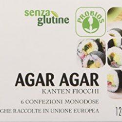 Probios Agar in Confezione Monodose senza Glutine – 6 Confezioni da 12 gr